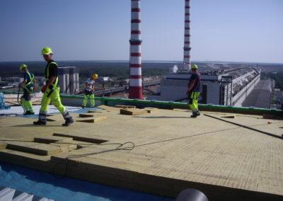 Eesti Elektrijaama TT Tower PVC katuse ehitus, +72m