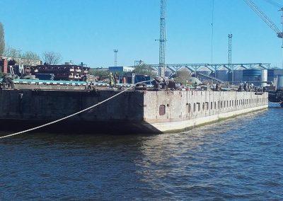 Betoonpontooni ettevalmistustööd meretranspordiks
